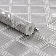 Boutique Geometric Metallic effect Wallpaper