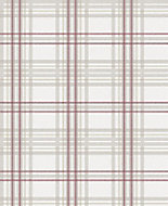 Graham & Brown Superfresco Easy Burgundy Tartan Metallic effect Embossed Wallpaper