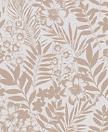 Boutique Alice Leaf Metallic effect Wallpaper