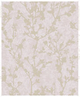 Boutique Silhouette Pink & rose gold effect Floral Wallpaper