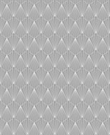 Graham & Brown Superfresco Easy Geometric Metallic effect Embossed Wallpaper