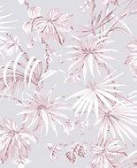 Boutique Tropique Pink Leaf Metallic effect Wallpaper