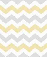 Boutique Ripple Yellow & Grey Geometric Wallpaper