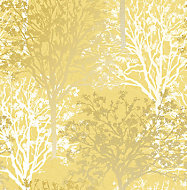 Boutique Arbre Yellow Tree Mica effect Smooth Wallpaper