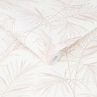 Graham & Brown Superfresco Pink Palm Textured Wallpaper