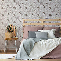 Superfresco Easy Pink Floral Textured Wallpaper