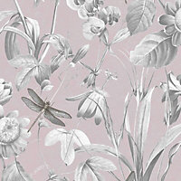 Superfresco Easy Pink Floral Smooth Wallpaper