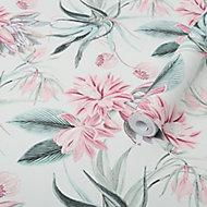 Graham & Brown Superfresco Easy Pink Floral Smooth Wallpaper