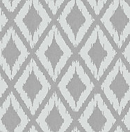 Graham & Brown Superfresco Grey Kasuri geometric Textured Wallpaper
