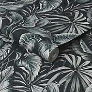 Graham & Brown Superfresco Green Leaves Textured Wallpaper