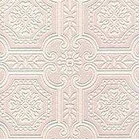 Craig & Rose White Tile Textured Wallpaper
