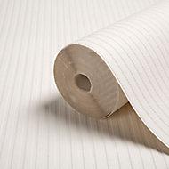 Graham & Brown Superfresco White Ribbed Textured Wallpaper