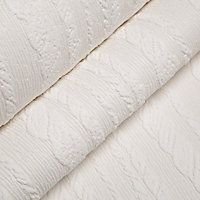 Graham & Brown Superfresco White Cable Textured Wallpaper