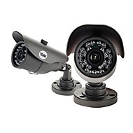 Yale HDC-303G-2 Wired Dark grey Indoor & outdoor Bullet camera, Pair