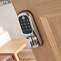 Yale Keyless Polished Chrome effect Smart Digital door lock