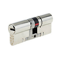 Yale Platinum Nickel-plated Brass Single Euro Cylinder lock, (L)100mm