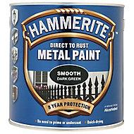Hammerite Dark green Gloss Metal paint, 0.75L