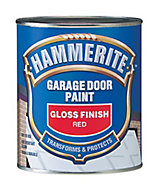 Hammerite Gloss red High sheen Garage door paint, 0.75L