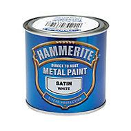 Hammerite White Satin Metal paint, 0.25L