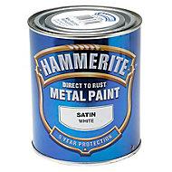 Hammerite White Satin Metal paint, 0.75L