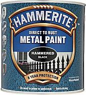 Hammerite Black Hammered effect Metal paint, 2.5L