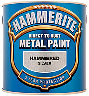 Hammerite Silver Hammered effect Metal paint 2.5L