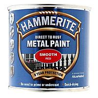 Hammerite Red Gloss Metal paint, 0.25L