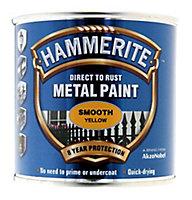 Hammerite Yellow Gloss Metal paint, 0.25L