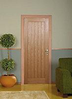 Laxford Oak veneer White Interior door, (H)1981mm (W)762mm