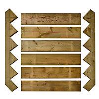 Spruce Decking stair kit
