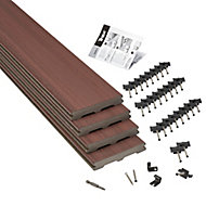 Trex® Moroccan red Composite Deck board (L)2.4m (W)140mm (T)24mm, Pack of 4