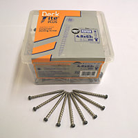 Composite decking screw fixing kit (Dia)4.8mm (L)63mm, Pack of 200