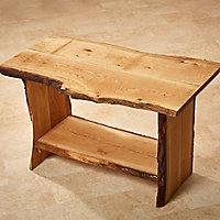 Waney edge Oak Furniture board, (L)0.9m (W)300mm (T)25mm