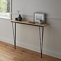 Waney edge Oak Furniture board, (L)1.2m (W)300mm (T)25mm