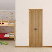 Cottage Oak veneer Internal Cupboard Door, (H)1981mm (W)305mm
