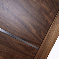 5 panel Flush Walnut veneer LH & RH Internal Door, (H)1981mm (W)838mm