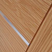 5 panel Flush Oak veneer LH & RH Internal Door, (H)1981mm (W)762mm