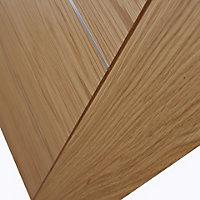5 panel Flush Oak veneer LH & RH Internal Door, (H)1981mm (W)686mm