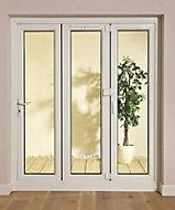 White PVCu Glazed Folding Patio door & frame, (H)2009mm (W)2390mm