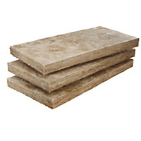 Knauf DriTherm Glasswool Insulation board (L)1.2m (W)0.46m (T)100mm, Pack of 6