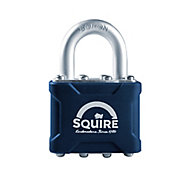Squire Laminated Steel Cylinder Open shackle Padlock (W)38mm