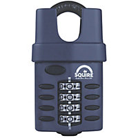 Squire Steel Weatherproof Closed shackle Combination Padlock (W)52mm