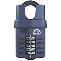 Squire CP60C/S Steel Closed shackle Combination Padlock (W)60mm