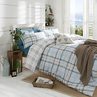 Kelso Checked Duck egg Single Bed set