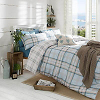 Kelso Check Duck egg Double Bedding set