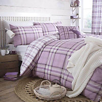 Kelso Check Heather King Bedding set