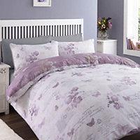 Chartwell Lilian Butterfly Purple Single Bedding set