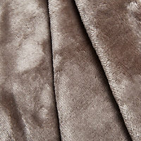 Taupe Honeycomb Fleece Throw