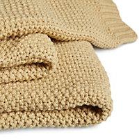 Durran Wheat Knitted Throw