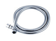 Triton Chrome effect Stainless steel Shower hose 1.25m